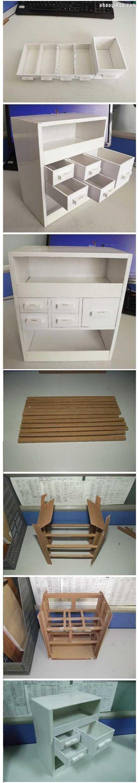 废旧纸箱手工制作 手工制作柜子/书柜/衣柜