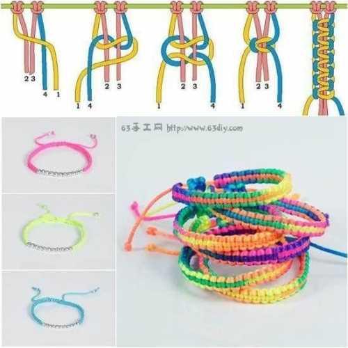 五彩绳编法 五彩手绳编织教程