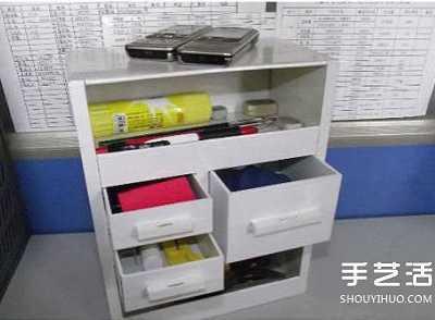 纸箱做柜子 纸箱废物利用手工制作好用的柜子的过程图解