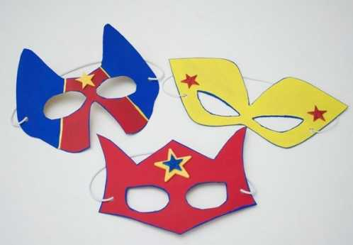 万圣节手工制作 万圣节超级英雄面具套装手工制作图解