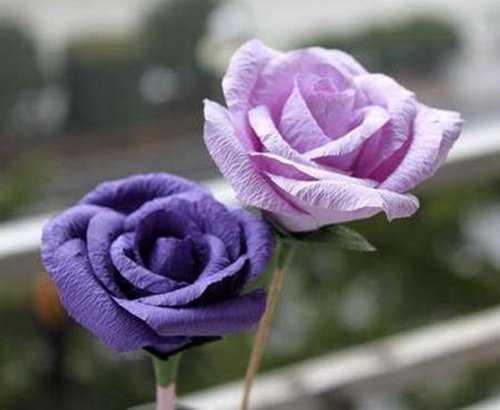 皱纹纸玫瑰花 皱纹纸diy逼真的漂亮玫瑰花
