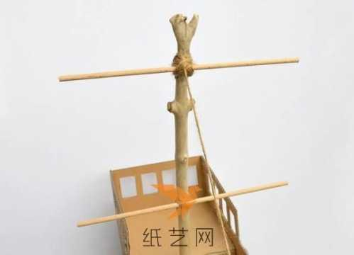 废旧纸盒手工制作 废纸箱变身手工海盗船玩具制作教程