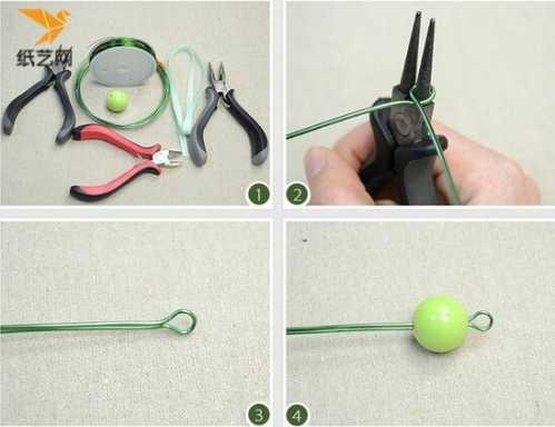 手工diy项链 手工制作绕线串珠奢华风项链教程图解